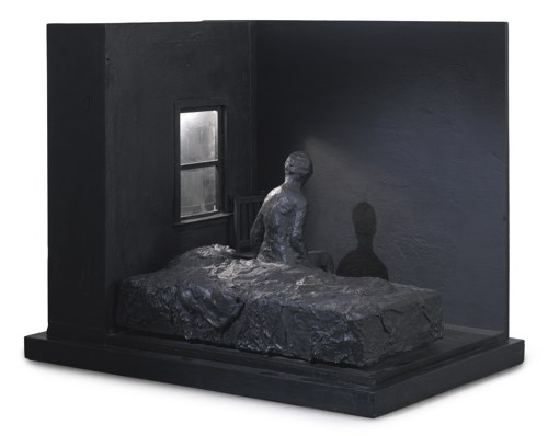 George Segal-Woman Sitting On Bed-1996