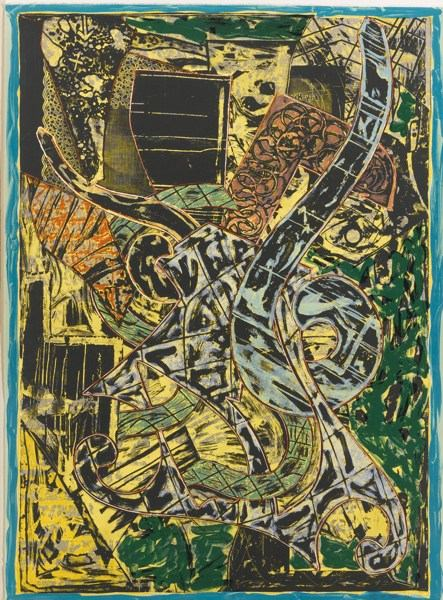 Frank Stella-Yellow Journal (A. 162)-1982