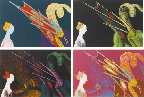 Andy Warhol-Details Of Renaissance Paintings (Paolo Uccello, St. George And The Dragon, 1460) (F. & S. II.324-327)-1984