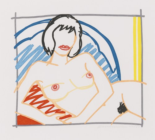 Tom Wesselmann-Monica Nude With Yellow Curtain-1991