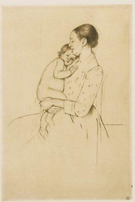 Mary Cassatt-Quietude (B. 139)-1891