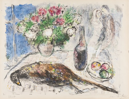 Marc Chagall-The Pheasant (See Mourlot 441)-1966