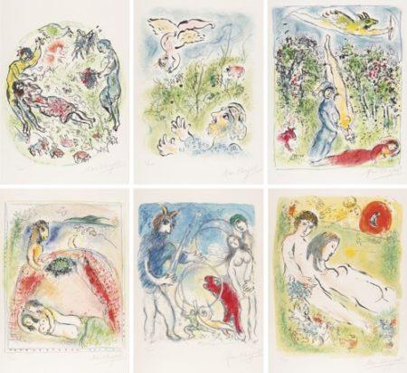 Marc Chagall-Sur La Terre Des Dieux (In The Land Of The Gods) (M. 529-540; C. Bk. 72)-1967