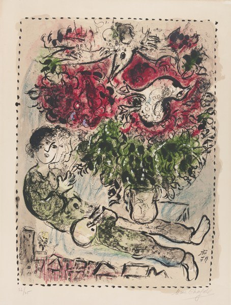 Marc Chagall-The Painter's Bouquet (M. 483)-1967