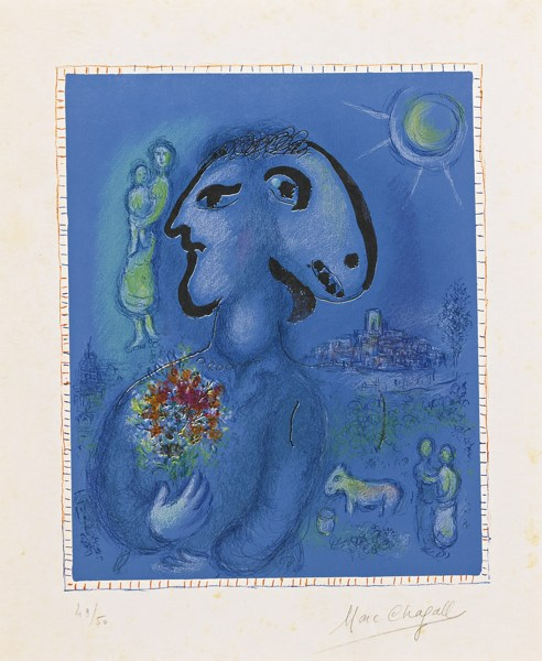 Marc Chagall-The Blue Village (Second Version) (M. 729A)-1974