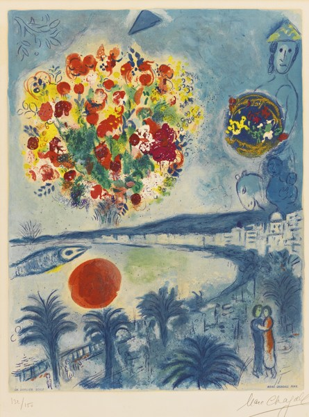 Charles Sorlier-After Marc Chagall - Sunset (M. Cs 26)-1967