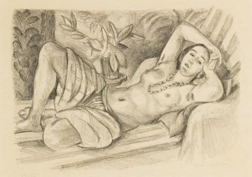 Henri Matisse-Odalisque Au Magnolia (D. 432)-1923