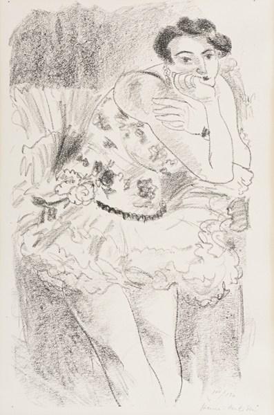 Henri Matisse-Danseuse Debout, Accoudee (D. 482)-1926