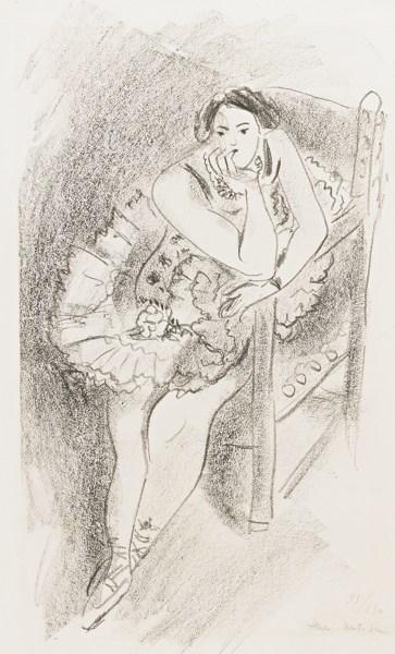Henri Matisse-Danseuse Au Fauteuil En Bois (D. 483)-1926