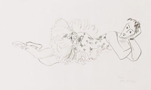 Henri Matisse-Danseuse Allongee, Tete Accoudee (D. 486)-1926