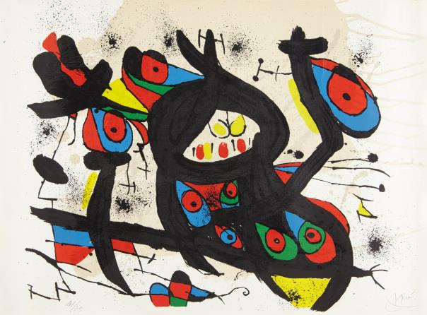 Joan Miro-Lithograph For The Exhibition Miro At Casino Of Knokke-Le-Zoute-1971