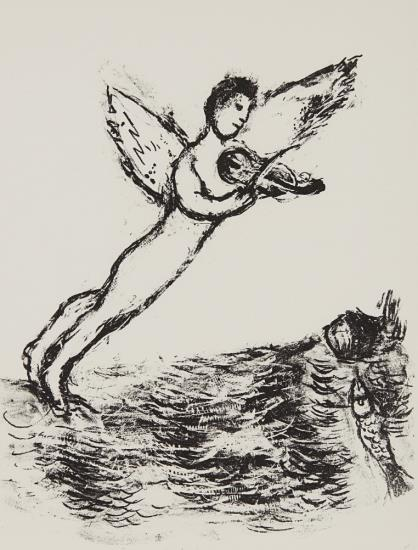 Marc Chagall-The Tempest-1975