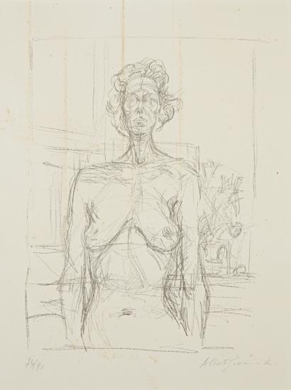 Alberto Giacometti-Nu Aux Fleurs (Nude With Flowers)-1960