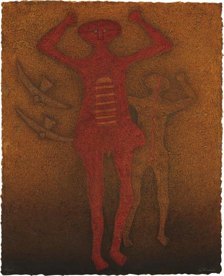Rufino Tamayo-Personajes Con Pajaros (Personages With Birds)-1988