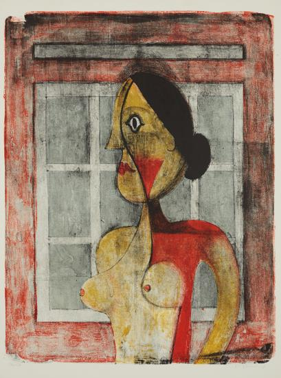 Rufino Tamayo-Portrait De Femme (Retrato De Mujer/Woman's Portrait), From Mujeres-1969