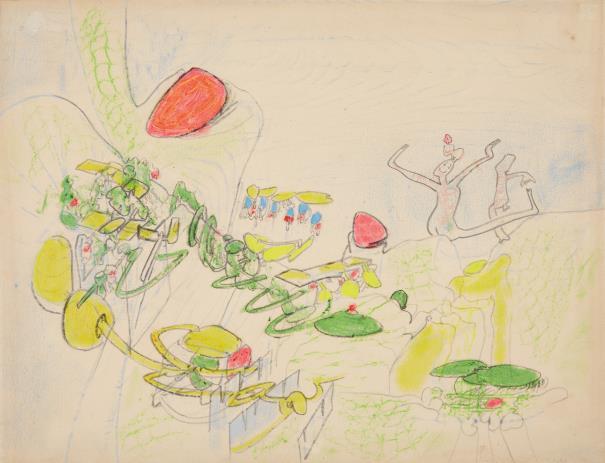 Roberto Matta-Composizione (7 Luglio)-1965