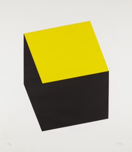 Ellsworth Kelly-Yellow/Black, From Series Of Ten Lithographs-1970