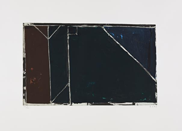 Richard Diebenkorn-Folsom Street Variations I (Black)-1986