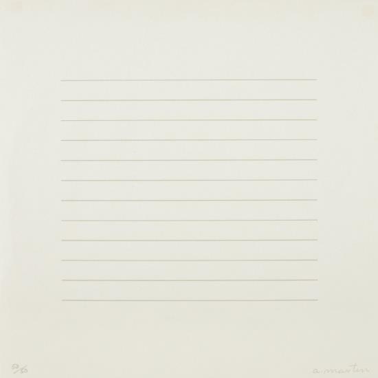 Agnes Martin-15A-1973