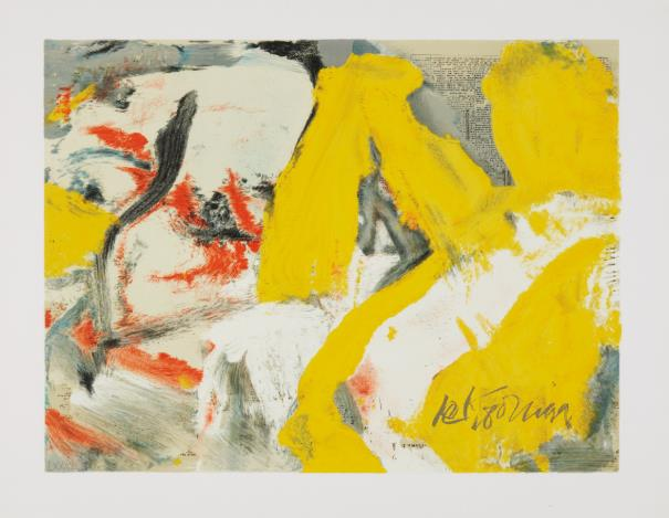 Willem de Kooning-The Man And The Big Blonde-1982
