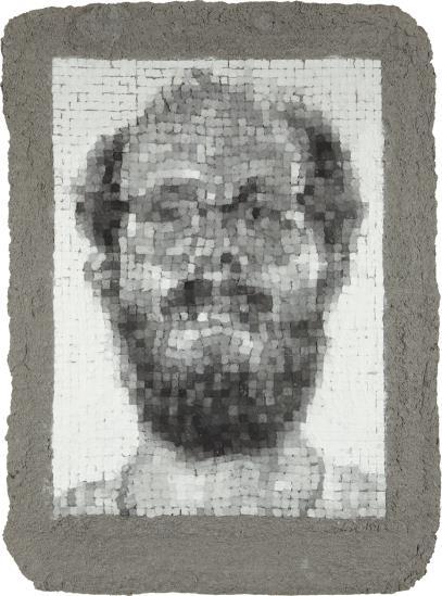 Chuck Close-Self-Portrait Manipulated-1982