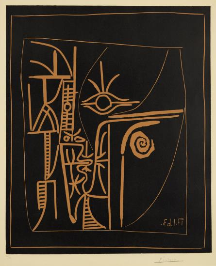 Pablo Picasso-Tete (Head)-1963