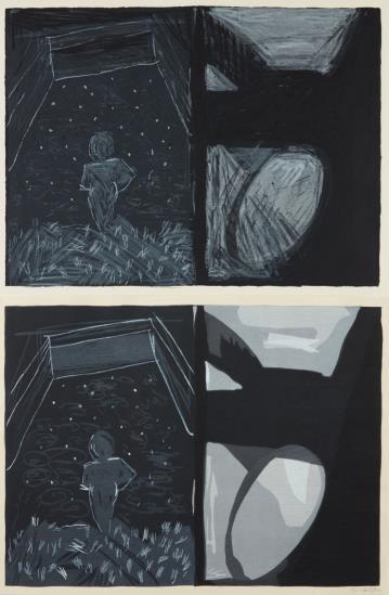 Jennifer Bartlett-In The Garden #190: Two Copies-1982