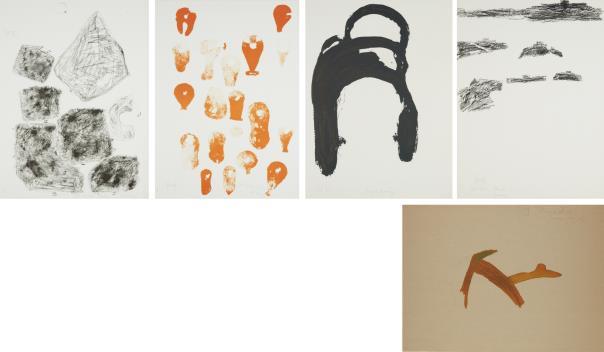 Joseph Beuys-Trace Ii: Five Untitled Prints-1977
