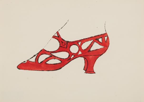 Andy Warhol-Shoe-1955