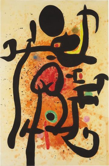 Joan Miro-Le Cracheur De Flammes (The Flame-Spitter)-1974