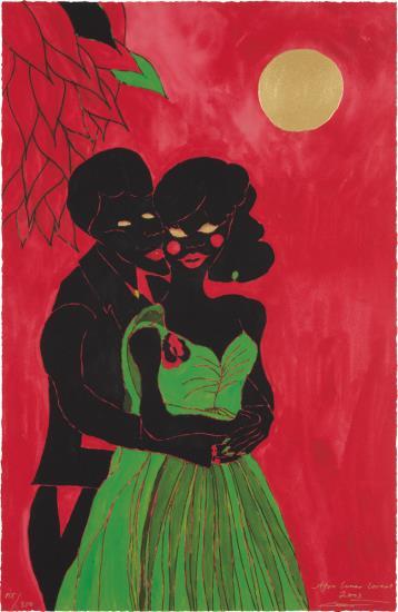 Chris Ofili-Afro Lunar Lovers I-2003