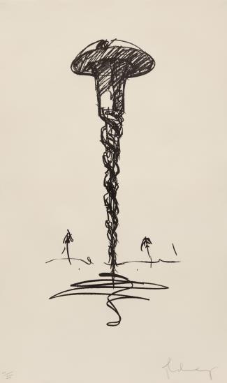 Claes Oldenburg-Colossal Screw In Landscape - Type 1-1976