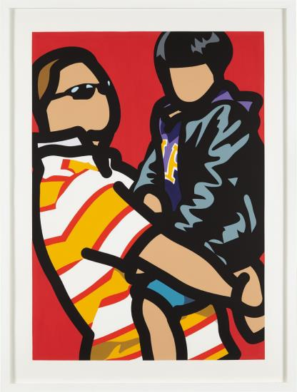 Julian Opie-Tourist With Child, From Tourists-2014
