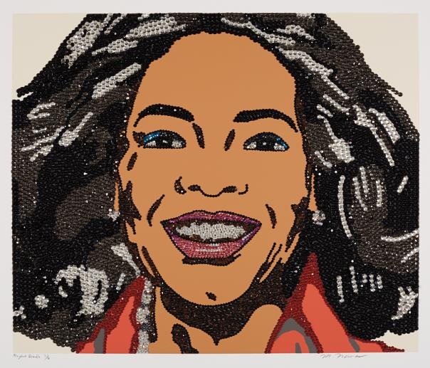 Mickalene Thomas-Oprah, From When Ends Meet-2007