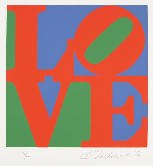 Robert Indiana-The Book Of Love: One Plate-1996