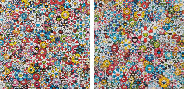 Takashi Murakami-The Future Will Be Full Of Smile! For Sure!; And Flowers With Smiley Faces-2013