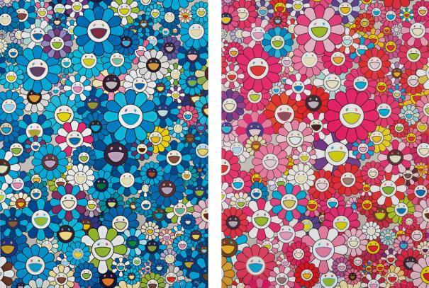 Takashi Murakami-An Homage To Ikb 1957 D; And An Homage To Monopink 1960 D-2012