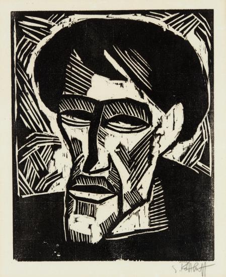 Karl Schmidt-Rottluff-Bildnis O.M. (Otto Mueller)-1914