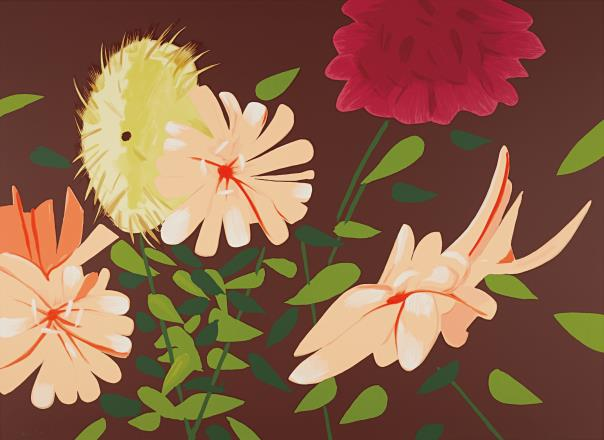 Alex Katz-Late Summer Flowers-2013