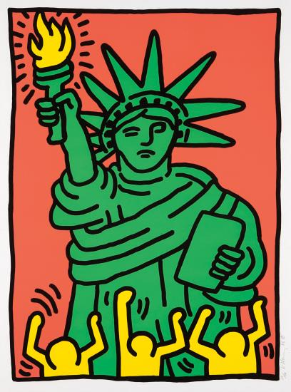 Keith Haring-Statue Of Liberty-1986