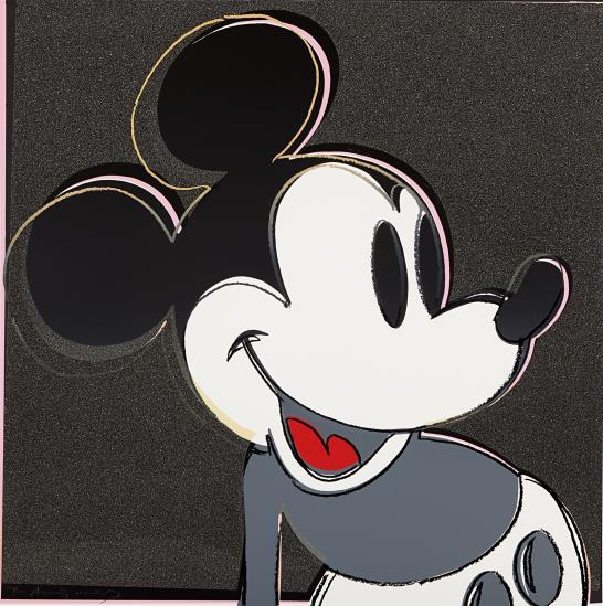 Andy Warhol-Mickey Mouse, From Myths-1981