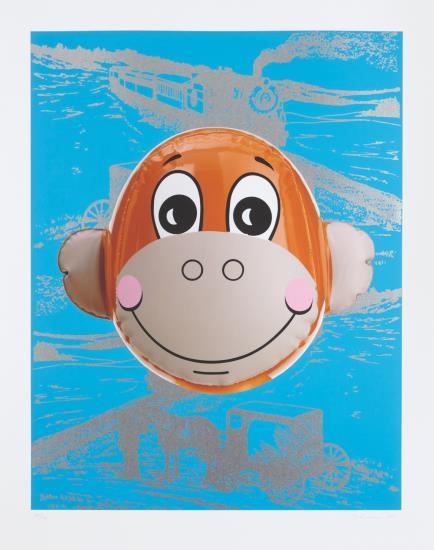 Jeff Koons-Monkey Train (Blue)-2007