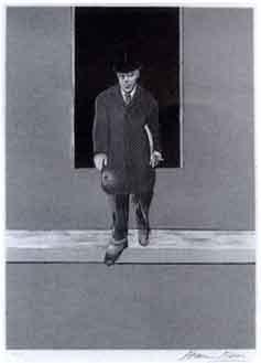 Francis Bacon-Homme descendant d'un trottoir/Homme, buste nu/Telephone-1987