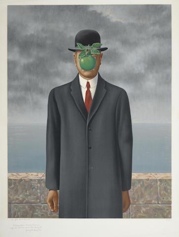 Rene Magritte-After Rene Magritte - Le fils de l'homme-1973