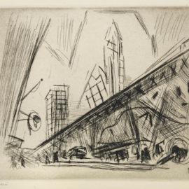 John Marin-Downtown New York, The El-1921