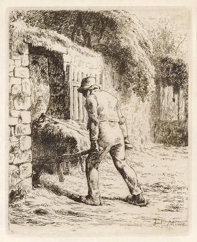 Jean-Francois Millet-Paysan rentrant du Fumier-1855