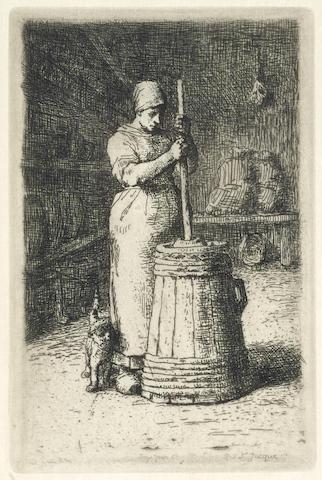 Jean-Francois Millet-La Baratteuse-1856