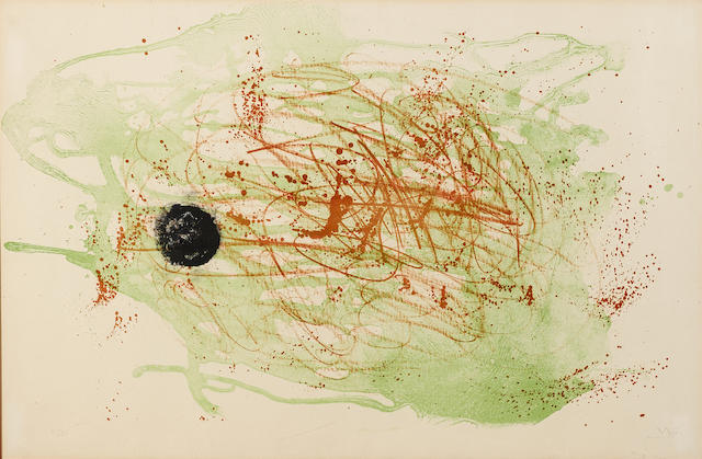 Joan Miro-Series I, red and green-1961