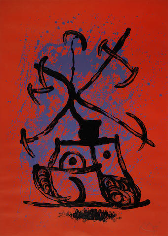 Joan Miro-The Teaser-Red-1969