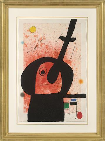 Joan Miro-Le Penseur puissant-1969